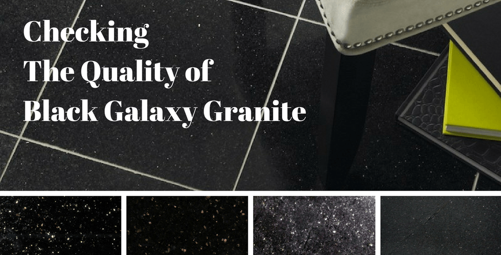 Quality Checking Black Galaxy Granite