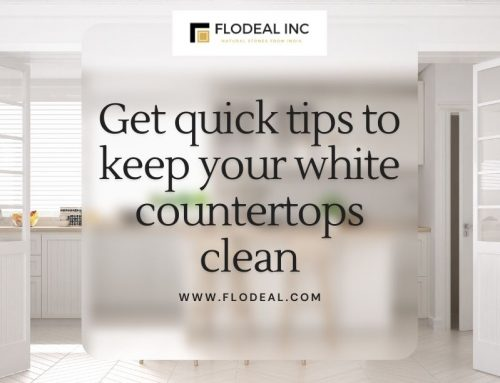 Get quick tips to keep your white countertops clean